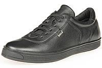 Мужские спортивные туфли кожаные стильные черные Mida 110643 16