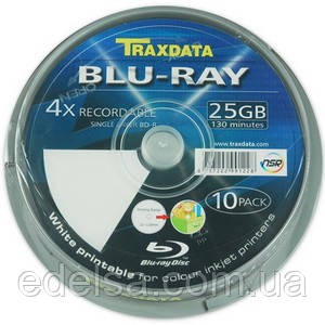 Traxdata Blue-Ray диски BD-R printable (под печать)