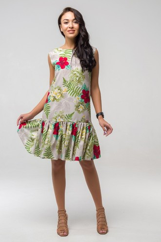 Платье летнее Эллочка ППЭ 2331 бежевый