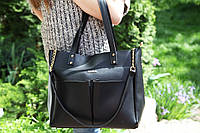 Женская сумка Zara черная кожзам
