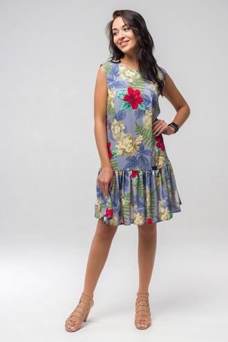 Платье летнее Эллочка ППЭ 2332 голубой