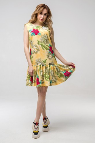 Платье летнее Эллочка ППЭ 2333 жёлтый