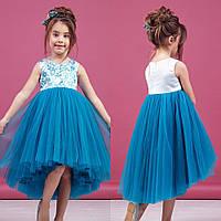 Небесное платье с цветочным принтом zironka