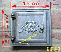 Дверка чугунная (220х220 мм) печи, грубу, барбекю,