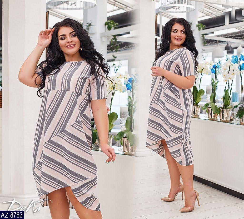Стильное платье    (размеры 50-56)  0180-87
