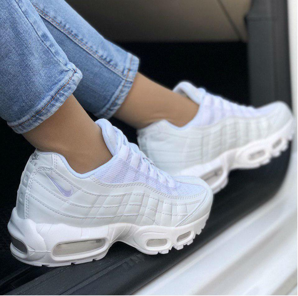 pick up f20b2 7605b Nike Air Max 95 Triple White   кроссовки женские; белые; рефлектив:  продажа, цена в Киеве. кроссовки, кеды повседневные от
