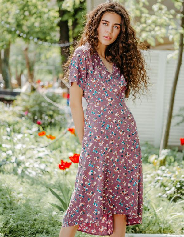 Платье LiLove 1-006 42-44 сиреневый