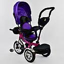 Трехколесный велосипед фиолетовый Best Trikeмодели5890 пульт надувные колеса поворотное сидение музыка свет, фото 3