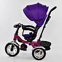 Трехколесный велосипед фиолетовый Best Trikeмодели5890 пульт надувные колеса поворотное сидение музыка свет, фото 4
