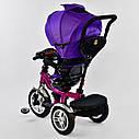 Трехколесный велосипед фиолетовый Best Trikeмодели5890 пульт надувные колеса поворотное сидение музыка свет, фото 5