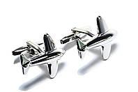 Запонки Pasadore Літак 23404CS сріблясті
