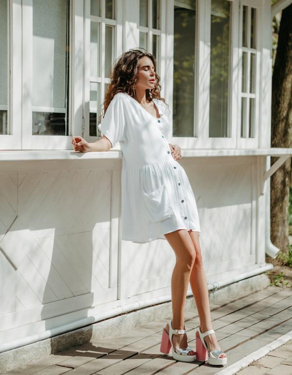 Платье LiLove 1-007 42-44 белый