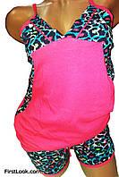 Женская пижама шорты и майка