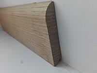 Плинтус деревянный дуб євро 70*13мм
