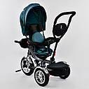 Трехколесный велосипед джинс синий Best Trikeмодели5890 пульт надувные колеса поворотное сидение музыка свет, фото 4