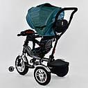 Трехколесный велосипед джинс синий Best Trikeмодели5890 пульт надувные колеса поворотное сидение музыка свет, фото 5