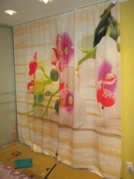 Фотошторы орхидеи