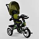 Трехколесный велосипед хаки Best Trikeмодели5890 с пультом надувные колеса поворотное сидение музыка свет, фото 2