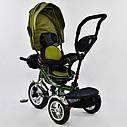 Трехколесный велосипед хаки Best Trikeмодели5890 с пультом надувные колеса поворотное сидение музыка свет, фото 3