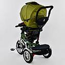Трехколесный велосипед хаки Best Trikeмодели5890 с пультом надувные колеса поворотное сидение музыка свет, фото 5