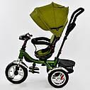 Трехколесный велосипед хаки Best Trikeмодели5890 с пультом надувные колеса поворотное сидение музыка свет, фото 4