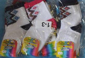 Носки c вышивкой хлопок (от 3-5 лет) .Детская одежда оптом