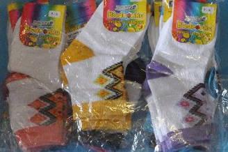 Носки c вышивкой хлопок (от 7-9 лет) .Детская одежда оптом