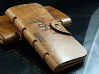 Мужской кожаный кошелек + Подарок Нож кредитка. Портмоне,бумажник. Кошельки для мужчин Bailini. Клатч.