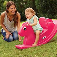 Детская качалка ВЕСЕЛАЯ ЛОШАДКА розовая Little Tikes 403C00060
