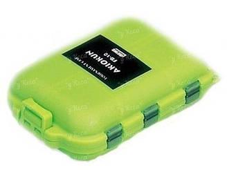 Коробка Meiho FB-10 Akiokun зеленая 10отд 86*66*13