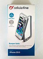 Бампер Чехол к смартфону Apple iPhone 5S/5/SE Cellular Line (цвет серебро)