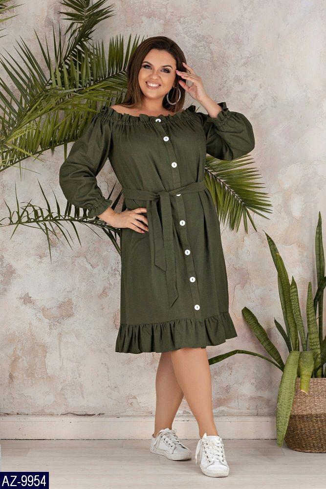Стильное платье    (размеры 50-56)  0181-10