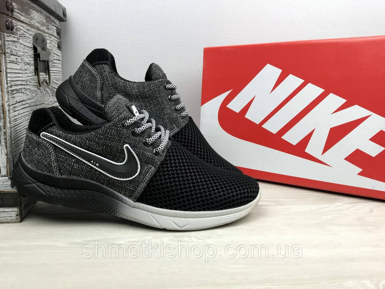 0b3a9727 Кроссовки CrosSAV 41 (Nike Roshe Run) (лето, мужские, текстиль, черный