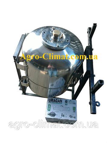 Опрыскиватель на мотоблок 50 л с компрессором штанга 4 метра нержавеющая сталь, фото 2