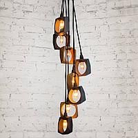Подвесной дизайнерский светильник из дерева Современная длинная люстра лофт
