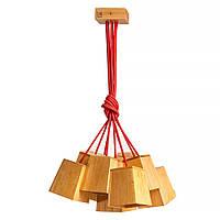 Подвесной дизайнерский светильник из дерева Современная  люстра лофт скандинавский стиль