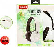 Наушники проволочные Maxell Classics Headphones White (4902580774981)