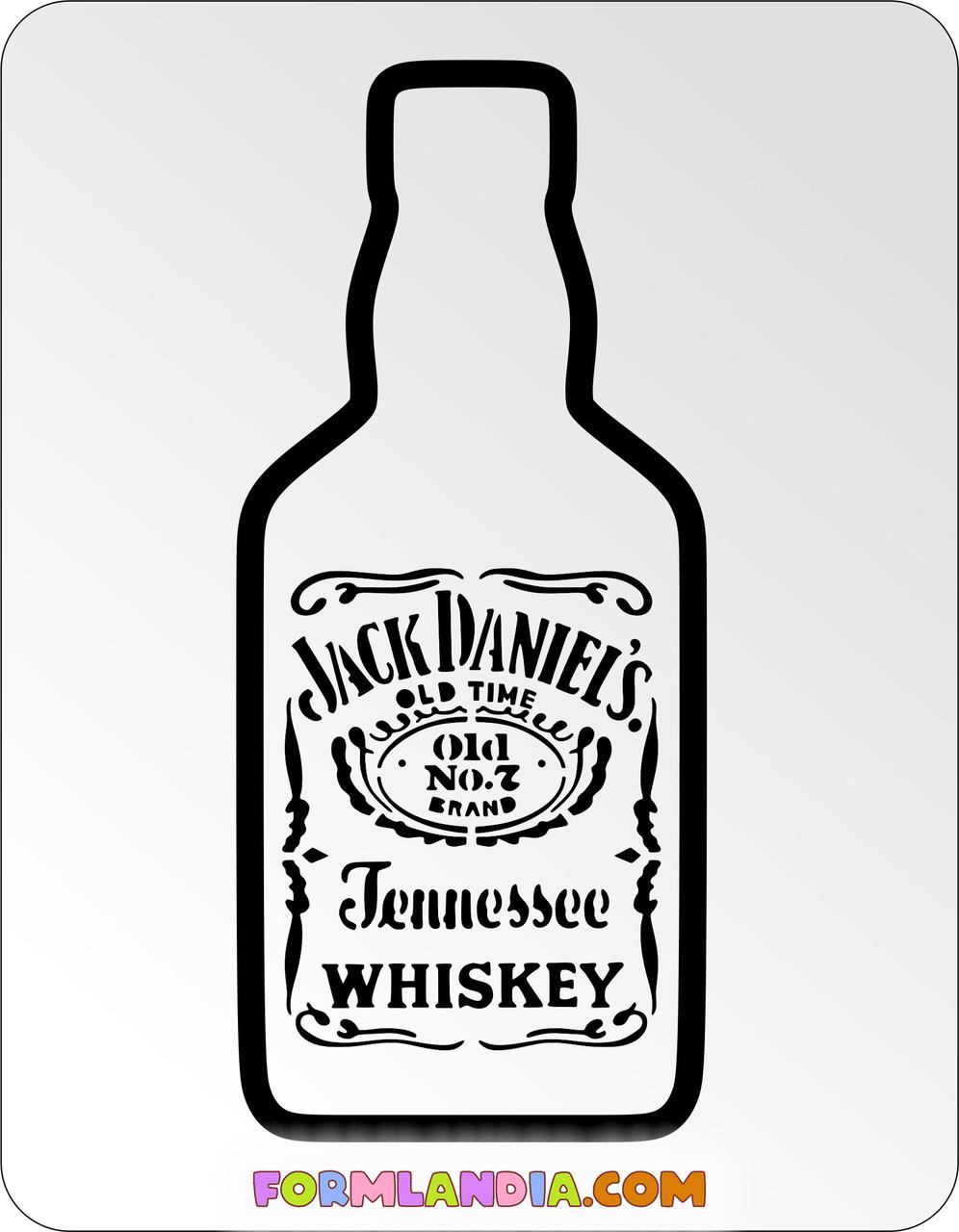Трафарет + форма Jack Daniels