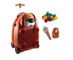 Детский чемодан Собака, с микрофоном и на пульте