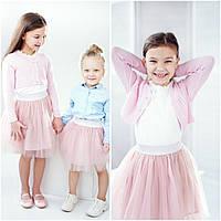 Красивая юбка для девочки из фатина, розовый цвет, рост 98-122 см., 280/250 (цена за 1 шт. + 30 гр.)