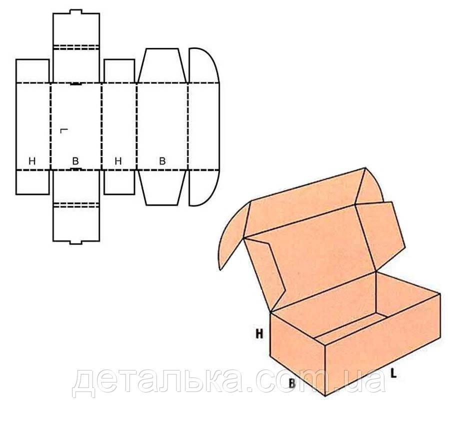 Самосборные картонные коробки 940*230*140 мм.