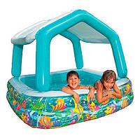 Детский надувной бассейн с навесом  Intex 57470 157х157х122см