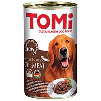 TOMi 5 kinds of meat 5 ТОМИ ВИДОВ МЯСА супер премиум корм, консервы для собак