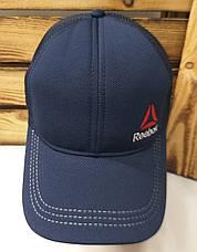 Мужская кепка, тракер, сзади сетка, вышивка в стиле Reebok (реплика), размер 54-56, на регуляторе, фото 3