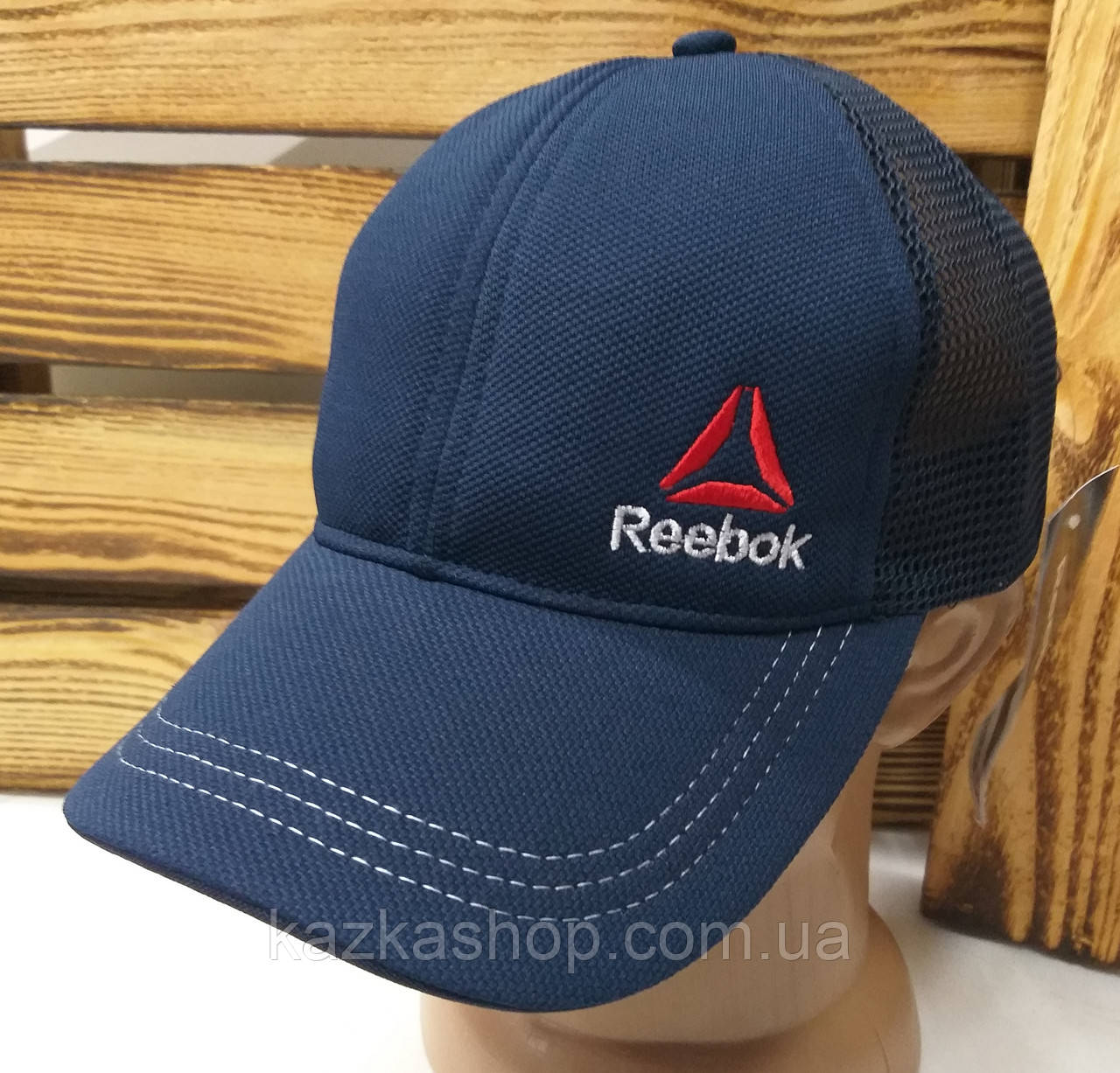 Мужская кепка, тракер, сзади сетка, вышивка в стиле Reebok (реплика), размер 54-56, на регуляторе
