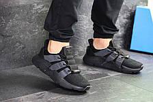 Кроссовки мужские Adidas,текстиль,черные, фото 2
