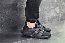 Кроссовки мужские Adidas,текстиль,черные, фото 3