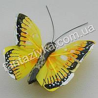 Декоративная бабочка монарх 45мм, желтая