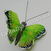 Декоративная бабочка монарх 45мм, салатовая