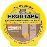 Лента малярная Frogtape, лента для малярных работ 24 мм х 55 м желтая
